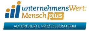 Logo UnternehmensWert: Mensch plus - Autorisierte Prozessberaterin