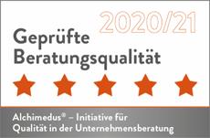 Zertifikat Alchimedus Geprüfte Beratungsqualität 2020/21